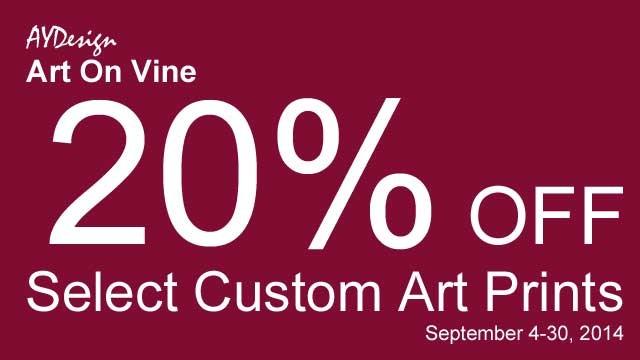 20% Off Select Custom Art Prints