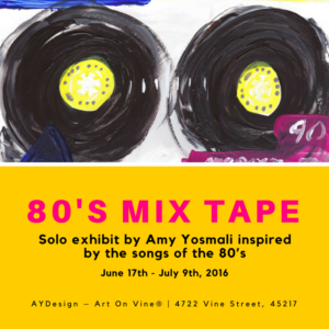 80s Mix Tape Social Media Exhibit